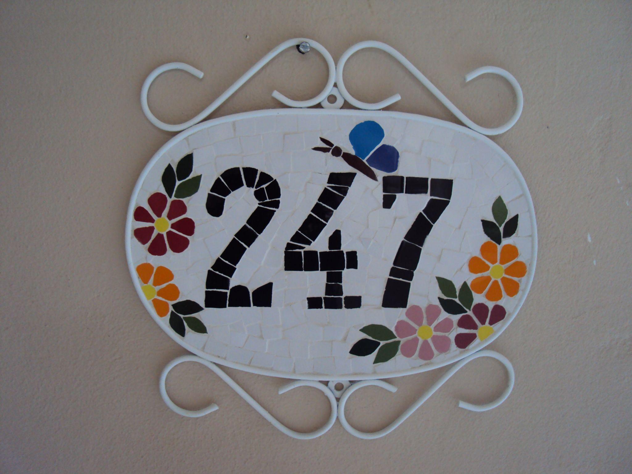 Número de Mosaico oval