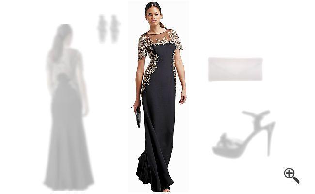 Schwarzes kleid lang kombinieren
