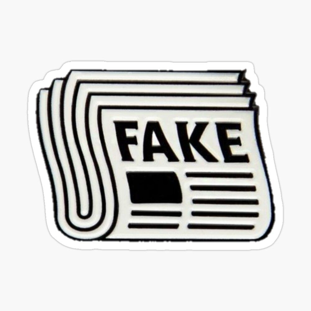 Fake News Sticker By Caitwood Preppy Stickers Stickers Sticker Design