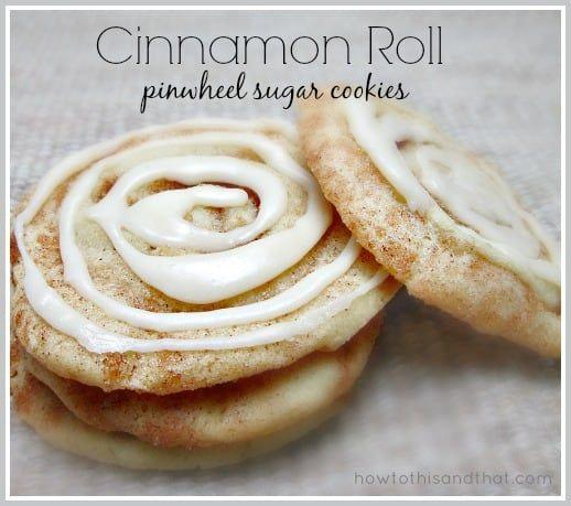 Quick & Easy Cinnamon Roll Pinwheel Sugar Cookies #cinnamonsugarcookies