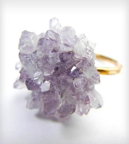 This ring is pretty amazing. I think of amethyst as being a bringing of peace and compassion. :: Amethyst Dahlia Ring by Natasha Grasso