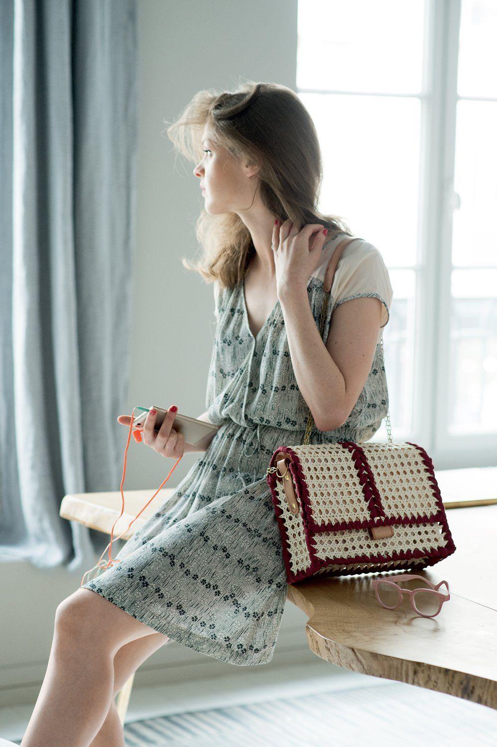 Un sac DIY en cannage | Sac, Cannage et Diy mode