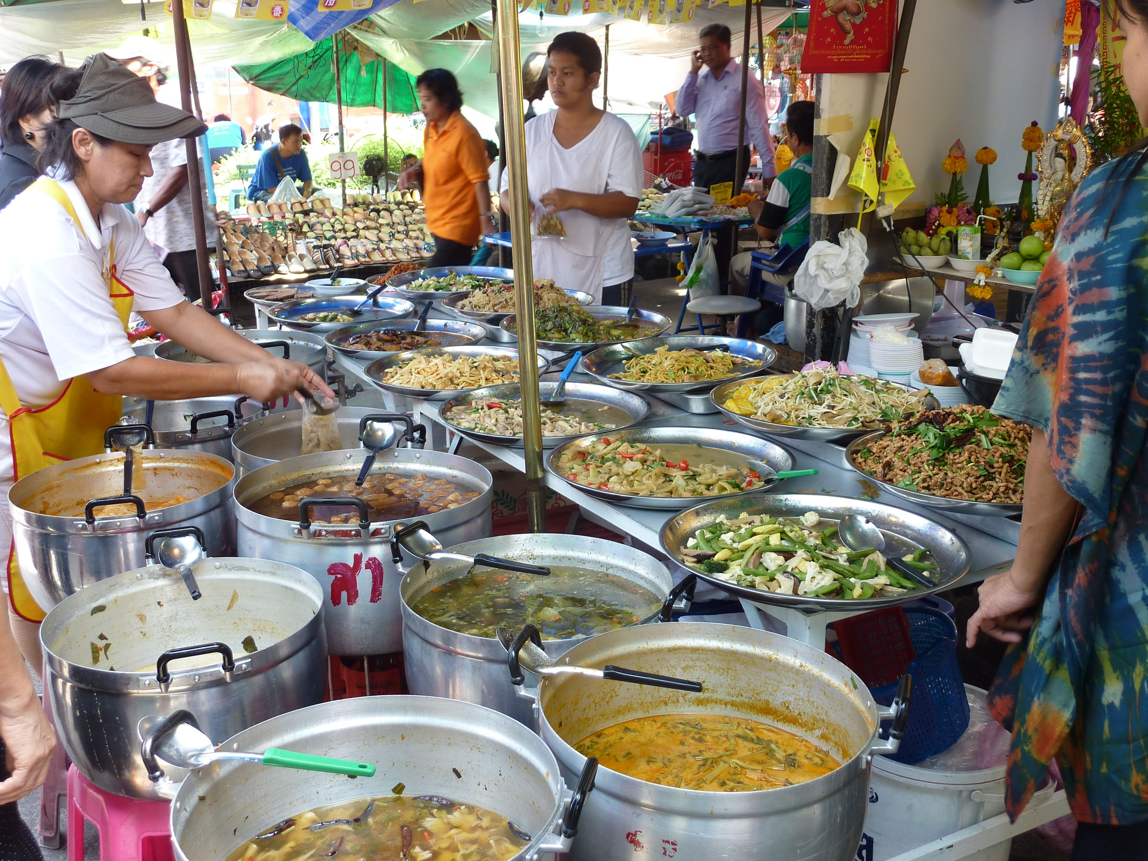 You can eat so many delicious things, for so little money in Bangkok. Fresh, aromatic, healthy food you can't get enough off.