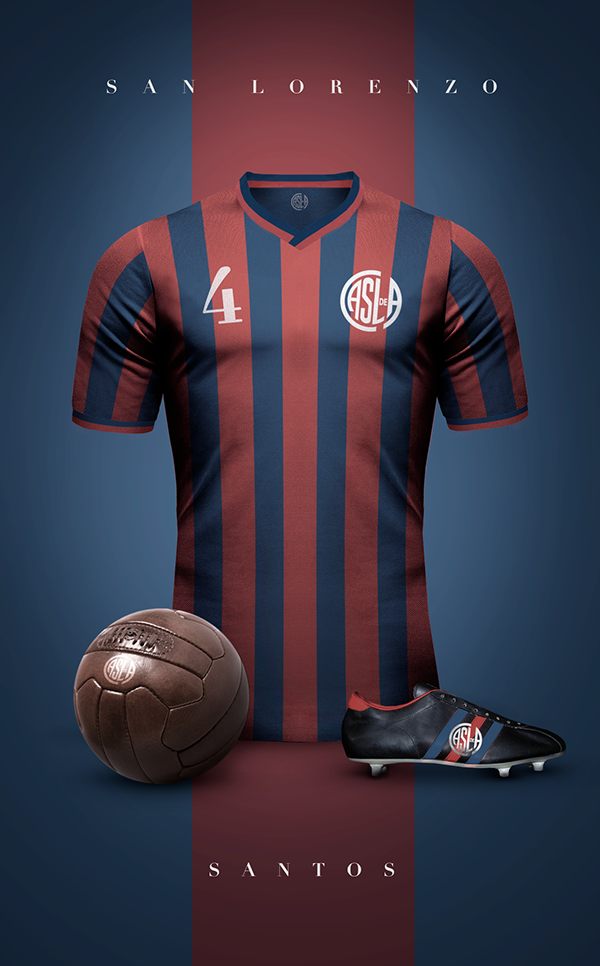 Club Atlético San Lorenzo de Almagro - Vintage clubs on  behance ... cb69a046edf