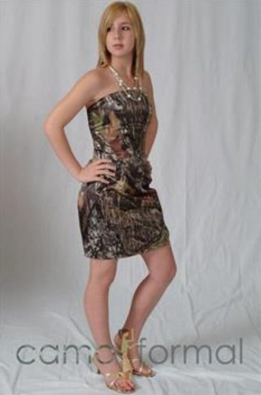 Short Camo Wedding Dress Maybe To Change Into Would Be