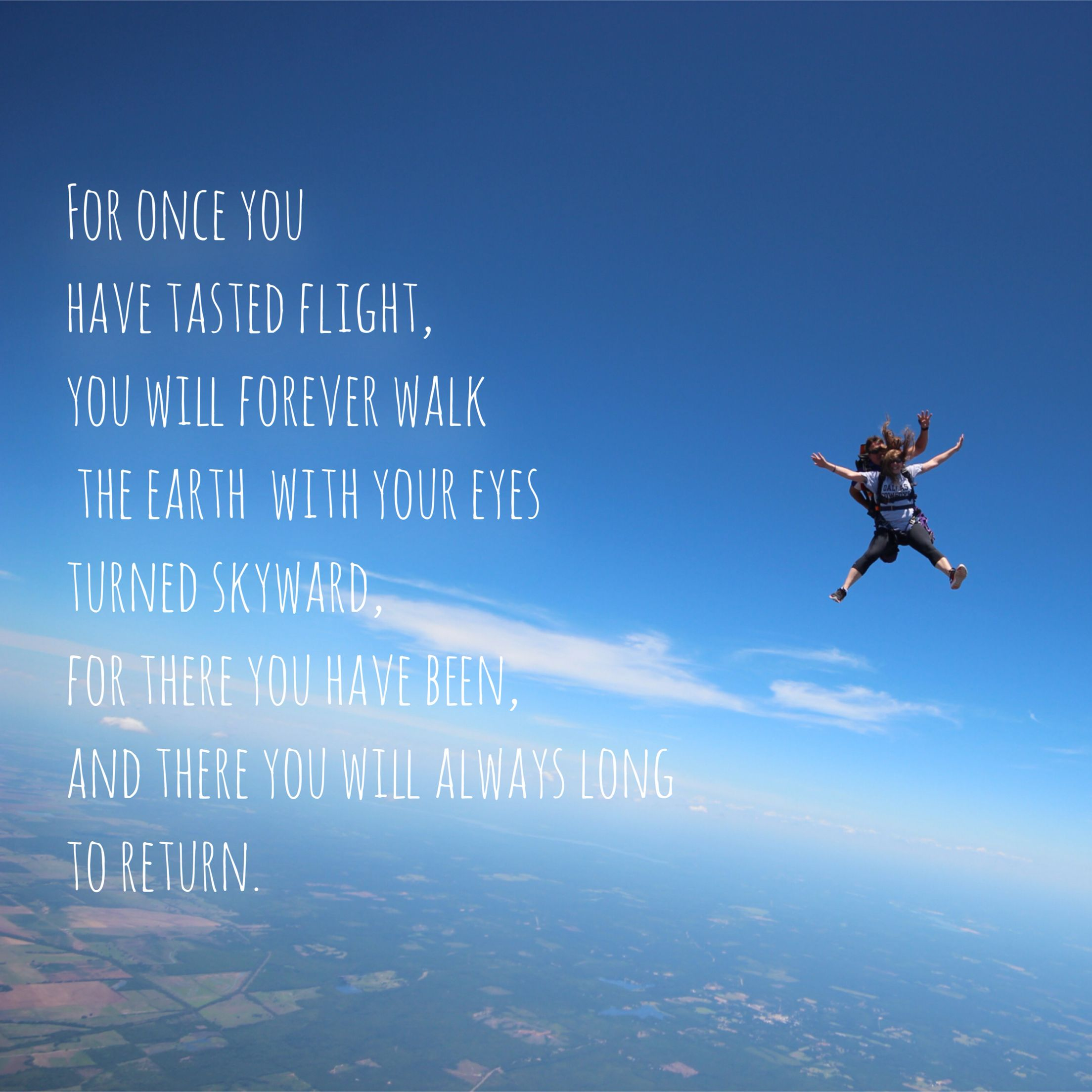 Amazing Skydiving Quotes Kissingclouds Adventure Coulds Blueskies Skydiving Quotes Fly Quotes Skydiving