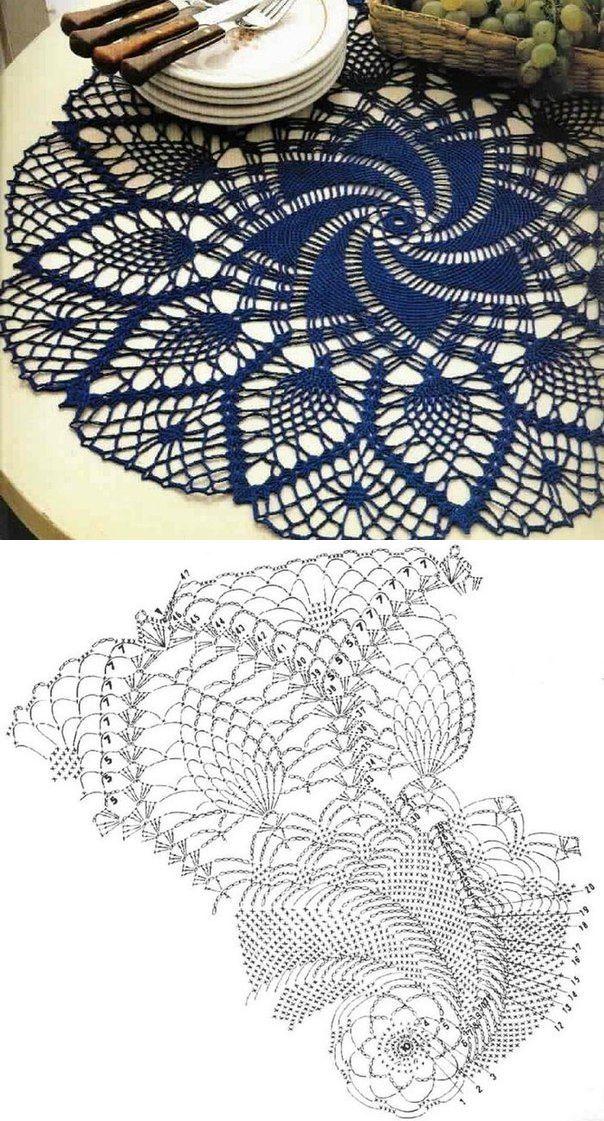 вязание для дома салфетки скатерти вязание скатерти крючком