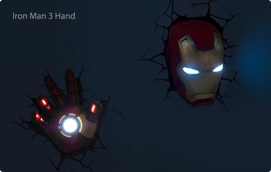 Coming Soon 3dlightfx Avengers Wall Lights Superhero Wall Lights Iron Man