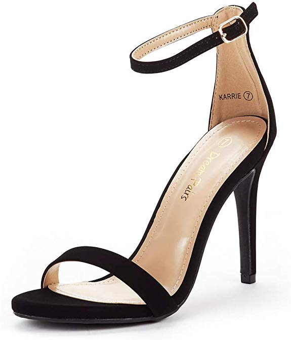 Karrie Silver Holographic Double Ankle Strap Heels   High