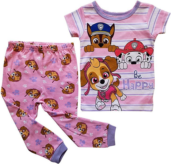 e941227bee Amazon.com  Paw Patrol Pajama Sleep Wear Set for Toddler Girls (4T)   Clothing