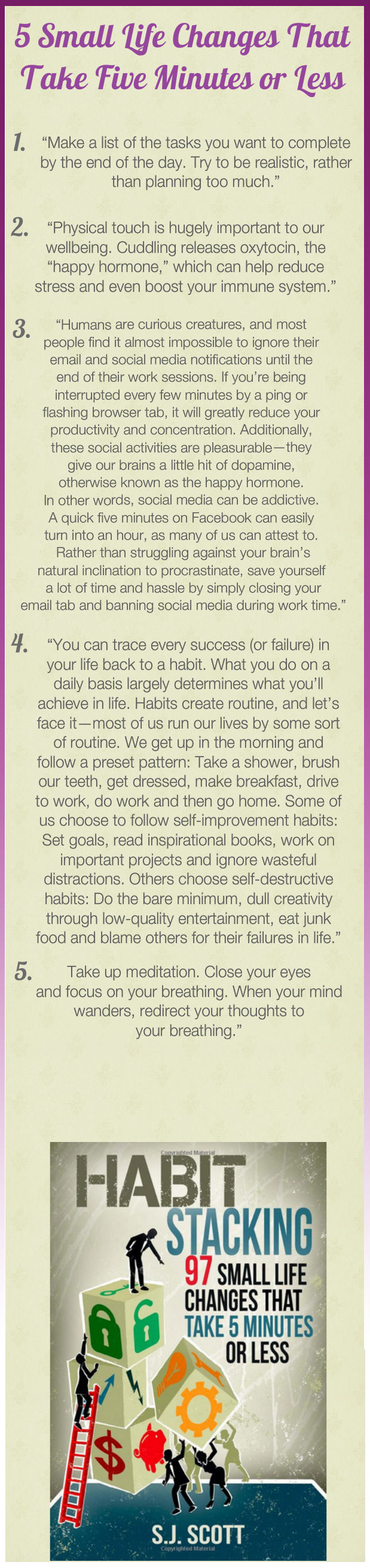 Daily Tips And Motivation Habit Stacking 97 Small Life