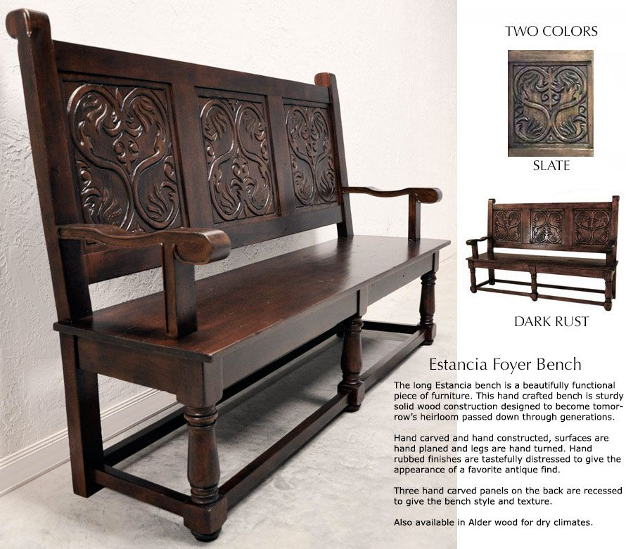 Pleasing Old World Style Leather Dining Benches Tuscan Style Dream Alphanode Cool Chair Designs And Ideas Alphanodeonline