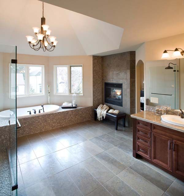 51 Mesmerizing Master Bathrooms With Fireplaces Bathroom Fireplace Cozy Bathroom Home