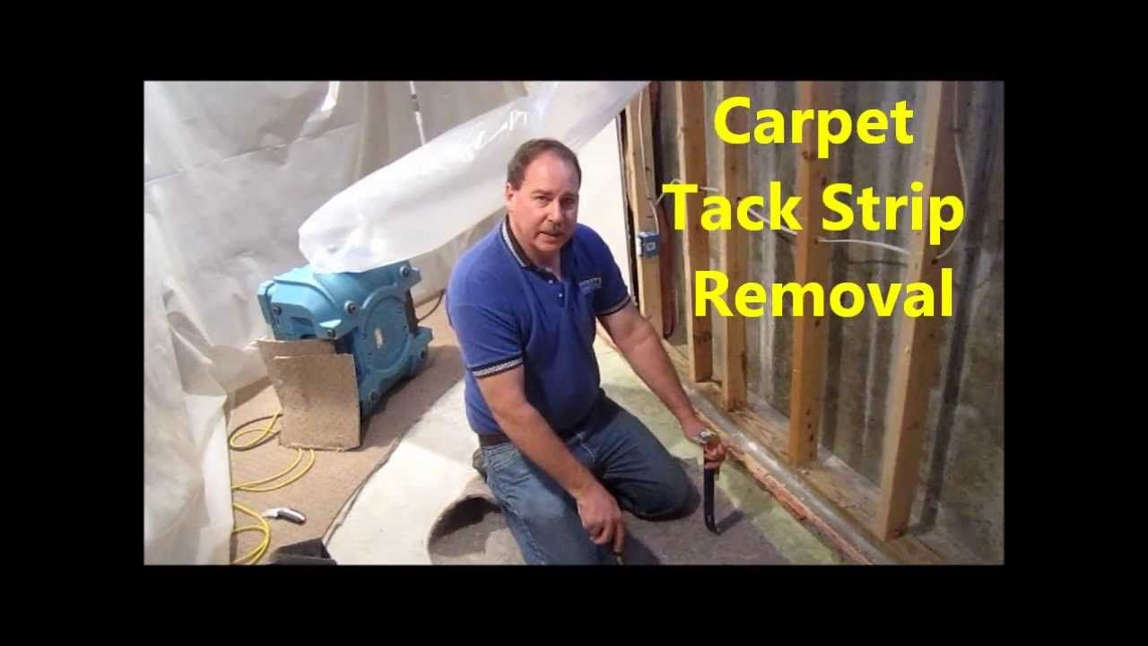How to remove carpet tack strip from concrete removing