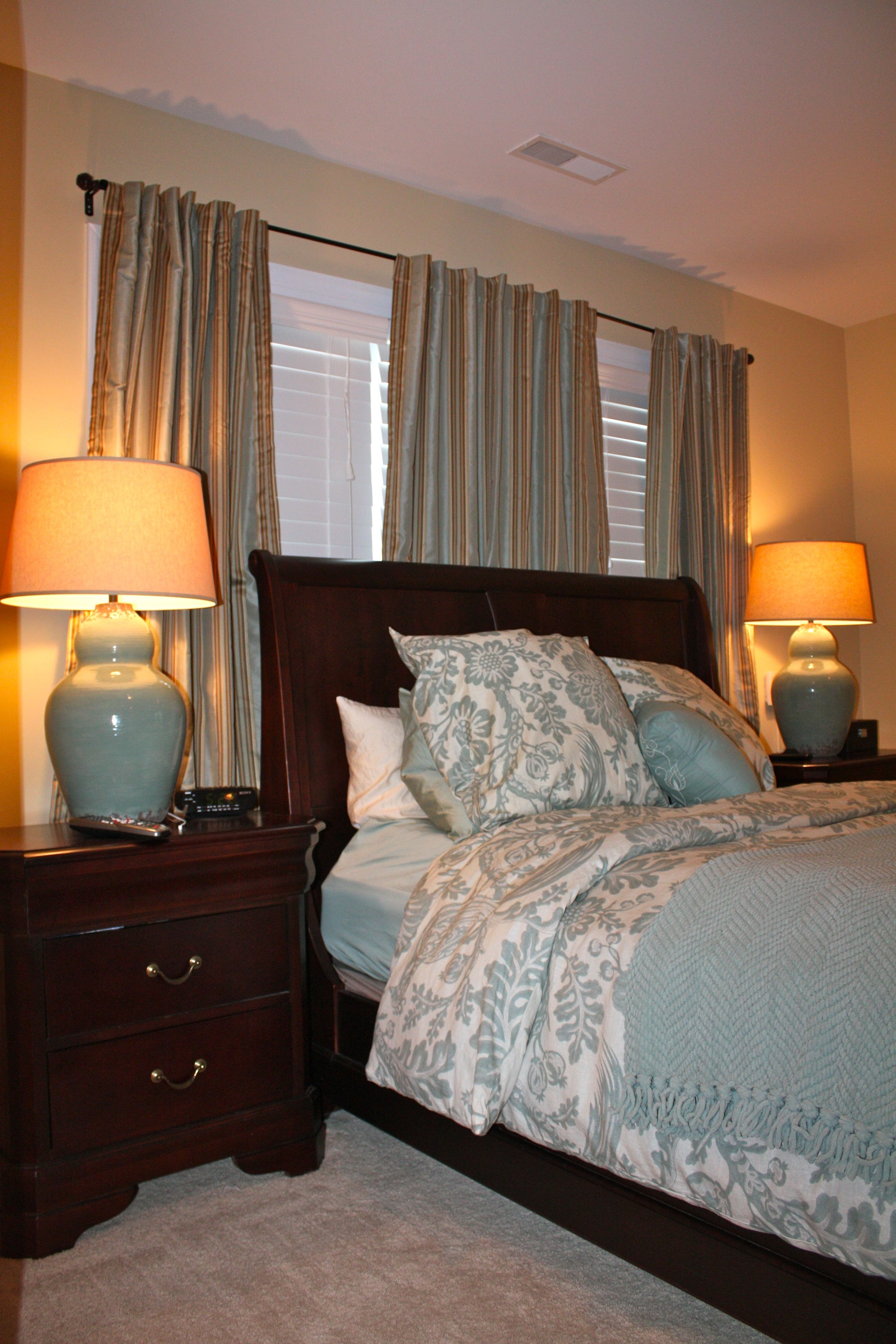 My Master Bedroom Makeover (Pottery Barn Lamps And Duvet