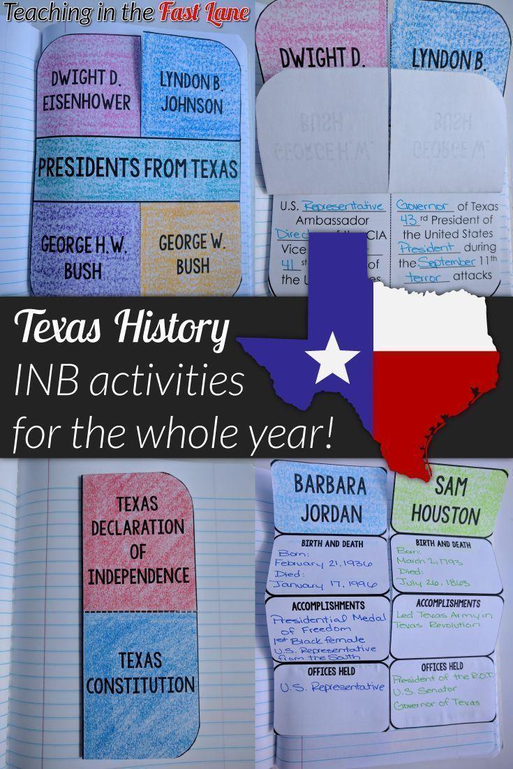 Photo of Texas History Interactive Notebook 4th Grade