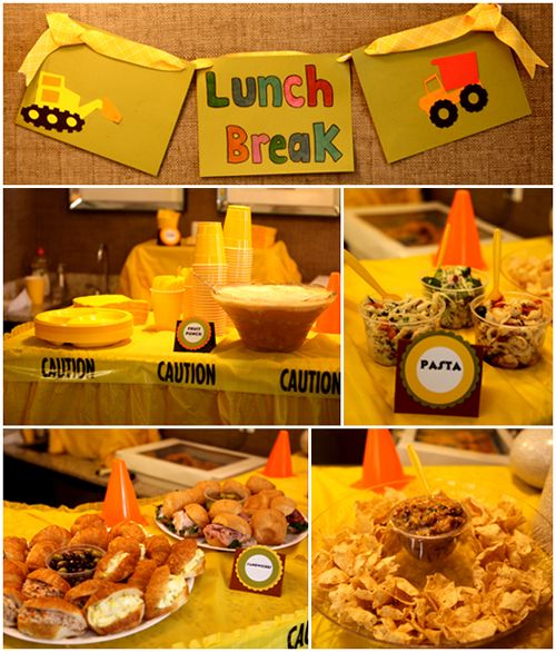 Construction Birthday Party Food Ideas: Construction Party Invites