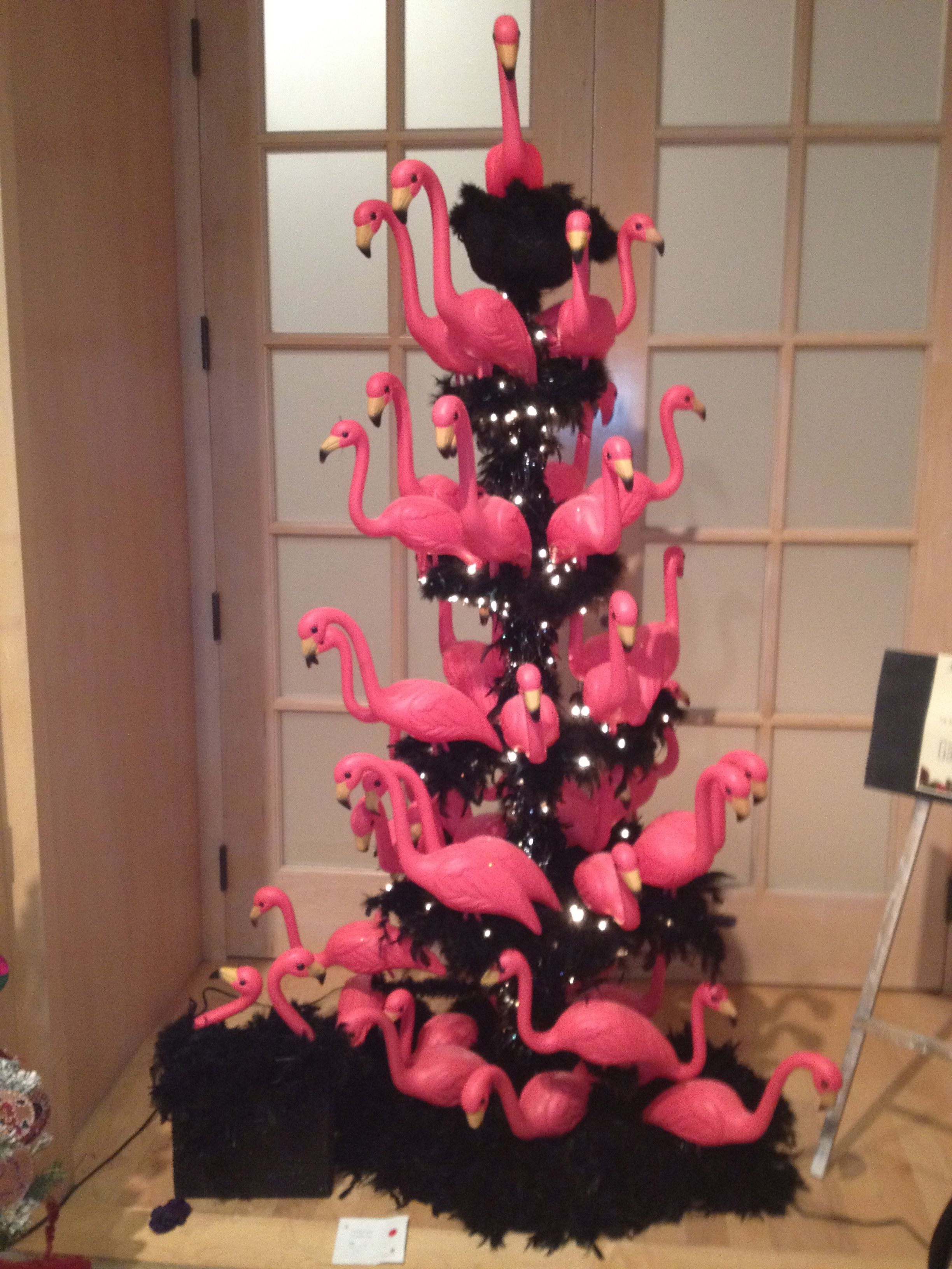 we just love this pink flamingo christmas tree flamingos pink christmastree
