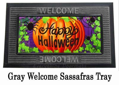 Sassafras Halloween Spider Switch Insert Doormat 10 X 22 Entry Mats Halloween Halloween Spider