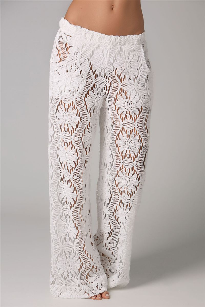 Great style and sun protection during the summer months. Take every precaution and protect your skin. Trina Turk's Kuta Crochet Covers Pants   Everything But Water