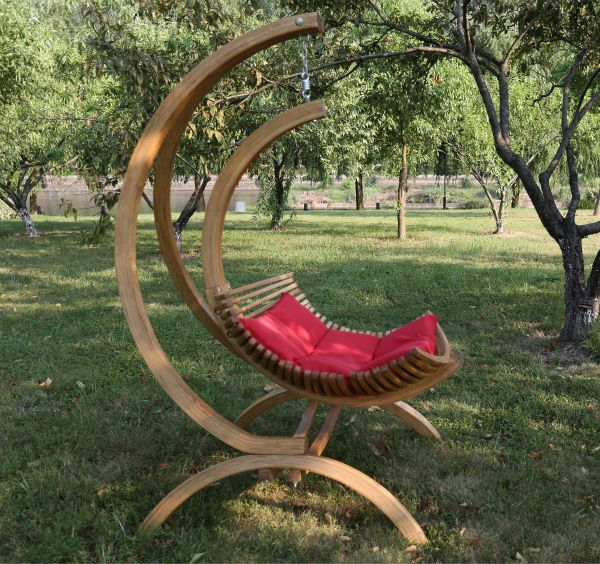 Hanging Chair Wood Converts To Bed Canada Wooden Swing Lounge Outdoor