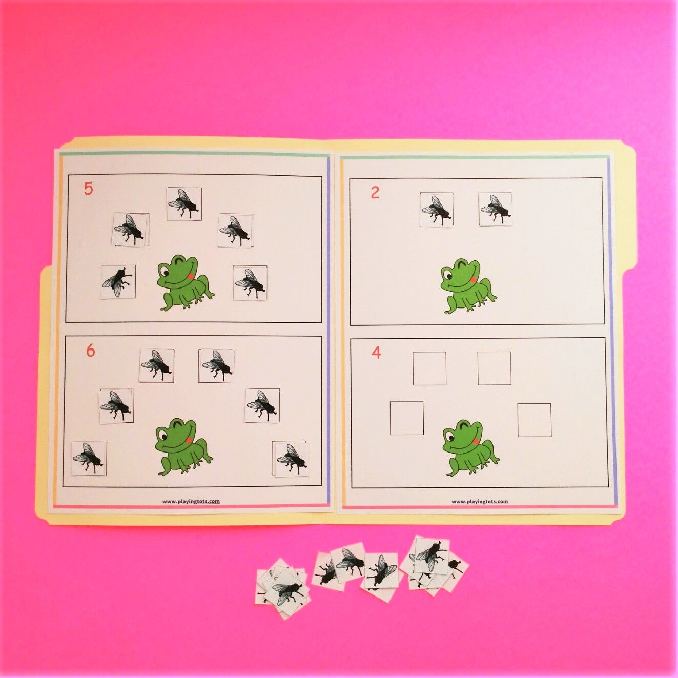 Feed The Frog File Folder