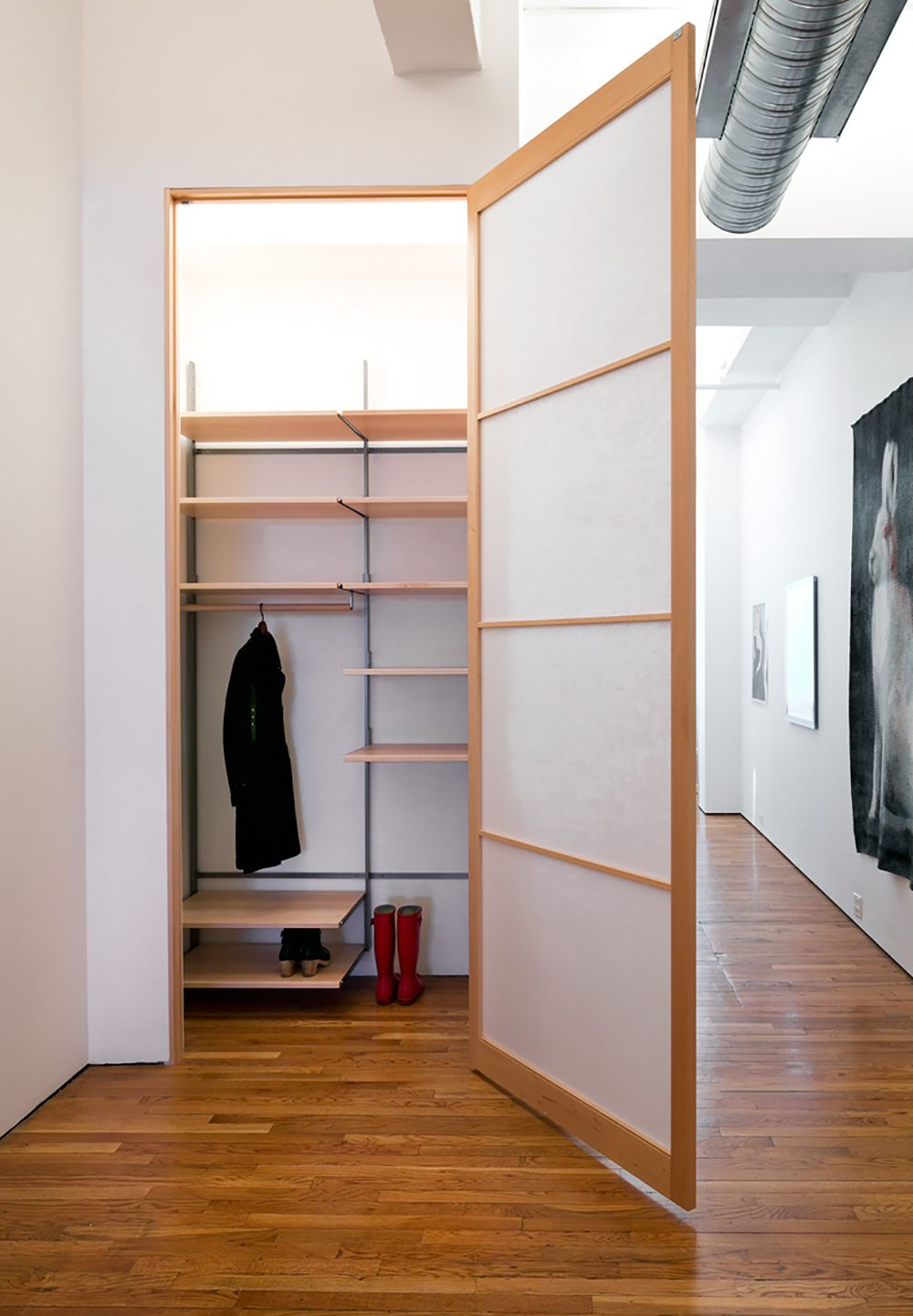 as4 modular closet storage configuration in solid maple