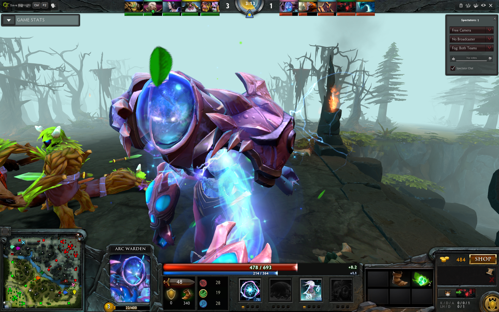 there he is one and only the most powerful hero arc warden