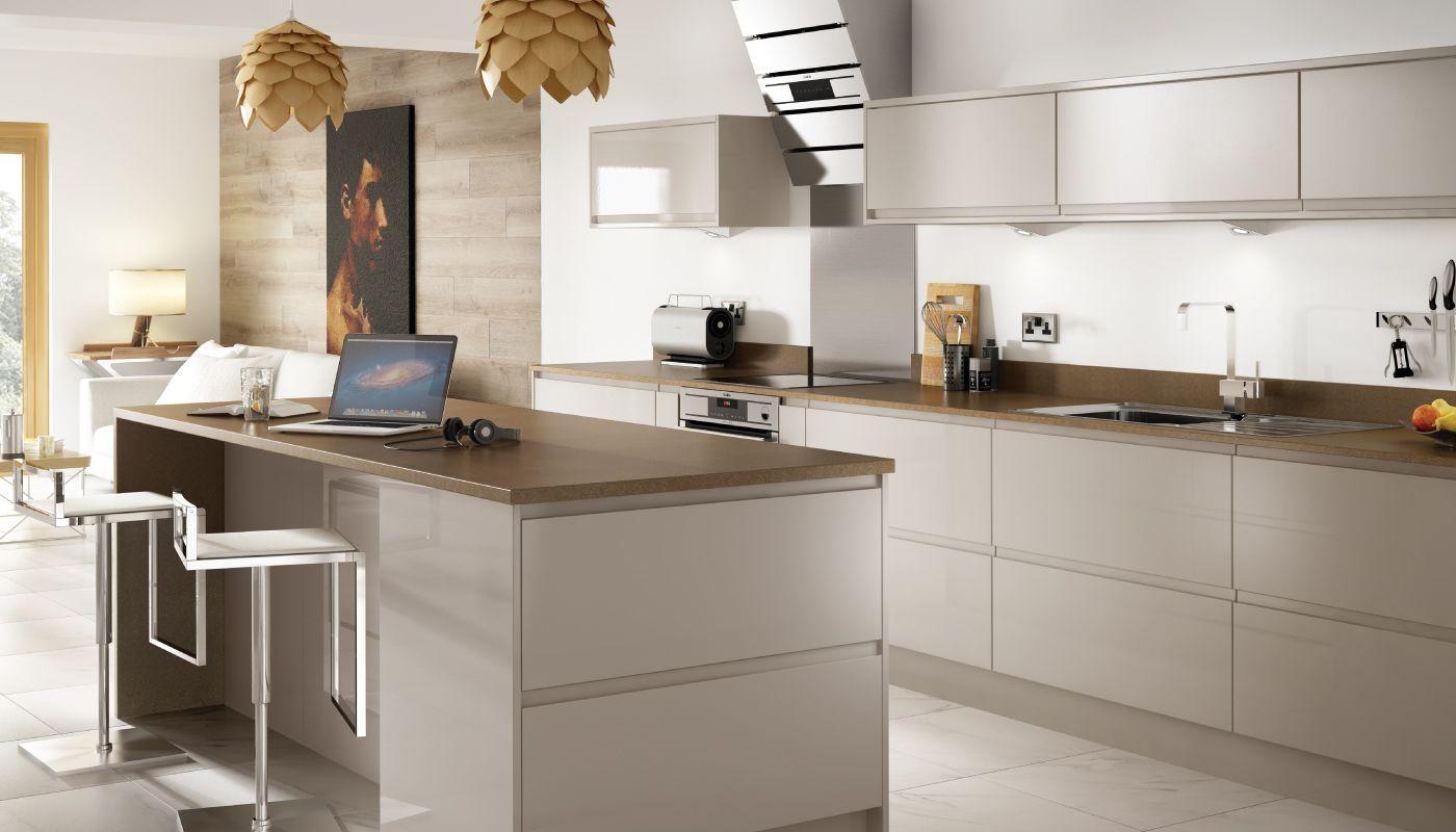 Holborn Gloss Cashmere Cashmere gloss kitchen, Beige