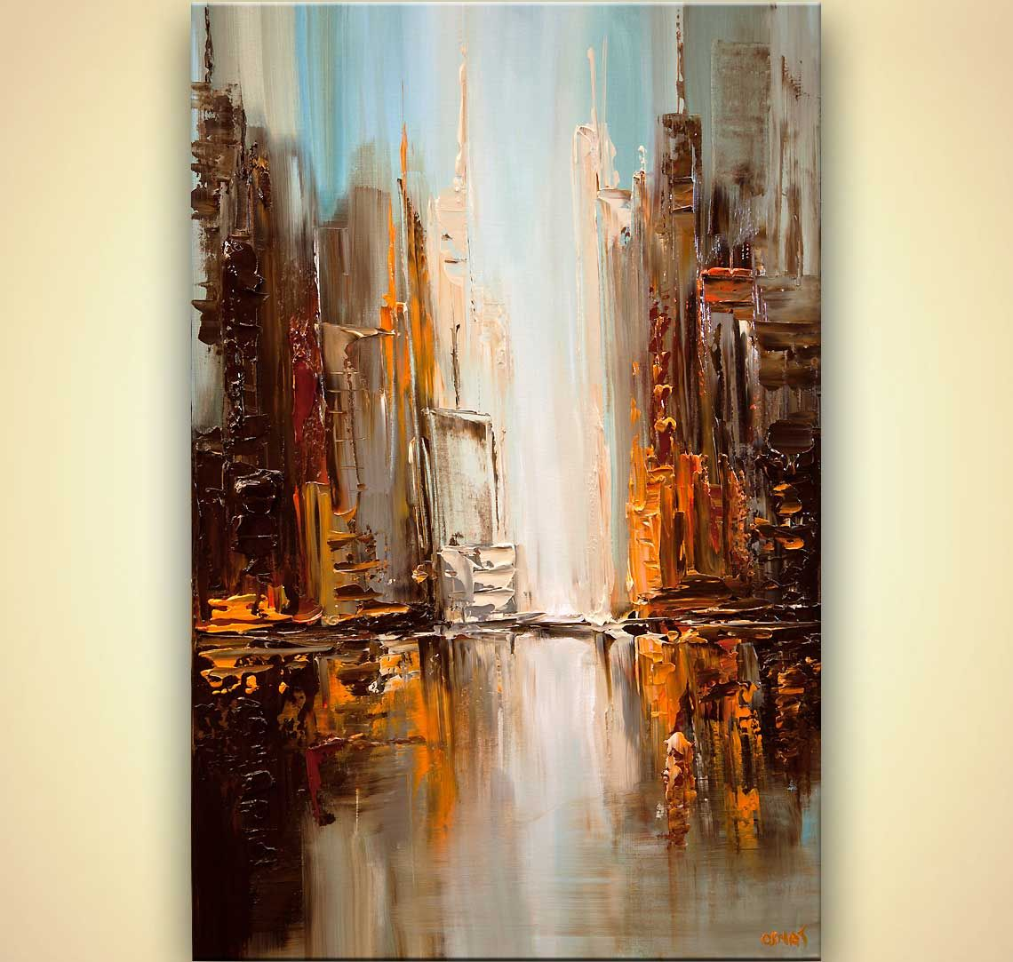 Abstract City Paintings Acrylic