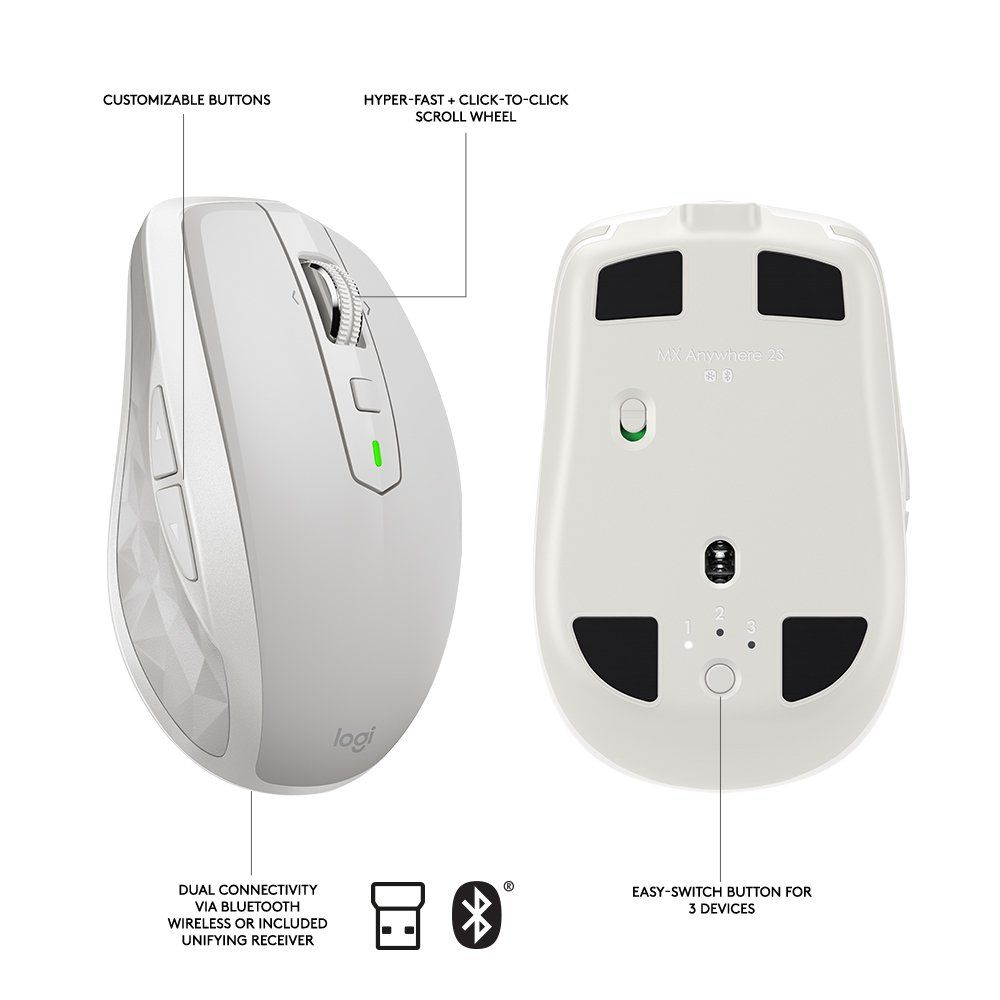 Logitech MX Anywhere 2S Wireless Mouse �20Use On Any