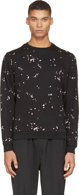 25f7411af647d7 Carven Black Embroidered Confetti Sweatshirt | свитшоты | Men ...