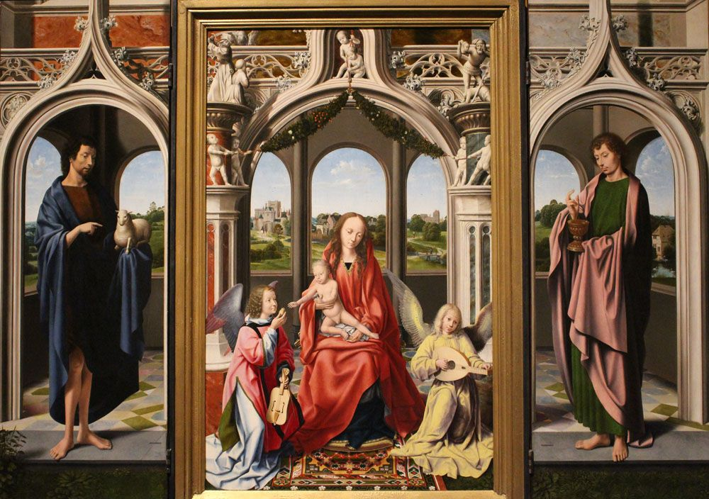 Master Of The Morrison Tritych Morrison Triptych 1500 1510 Flemish Triptych Art Toledo Museum Of Art Art History