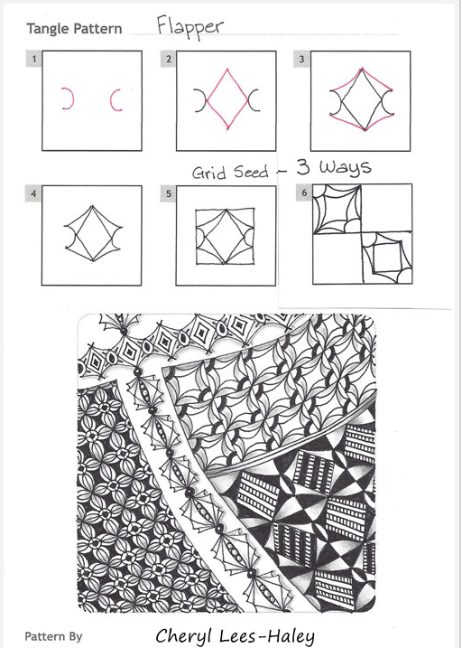 How to draw FLAPPER « TanglePatterns.com