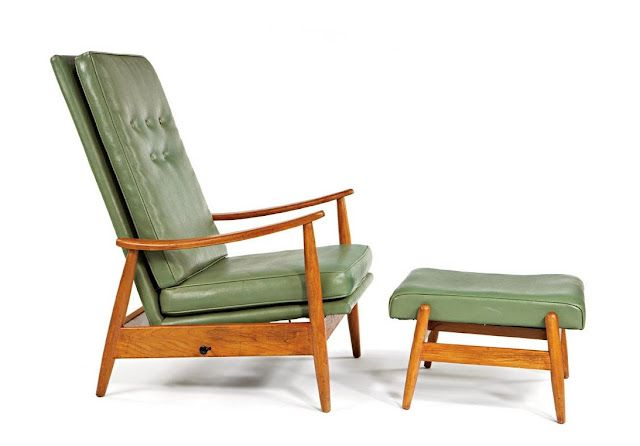 Super Milo Baughman Leather High Back Lounge Chair And Ottoman For Forskolin Free Trial Chair Design Images Forskolin Free Trialorg
