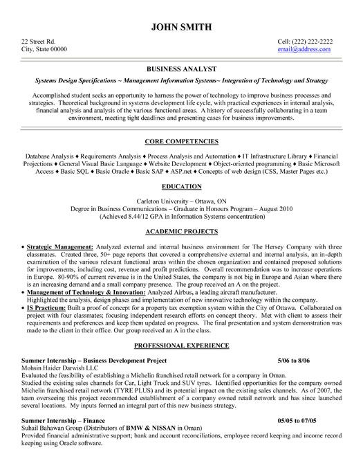 Business Resume Templates Click Here To Download This Business Analyst Resume Template Http