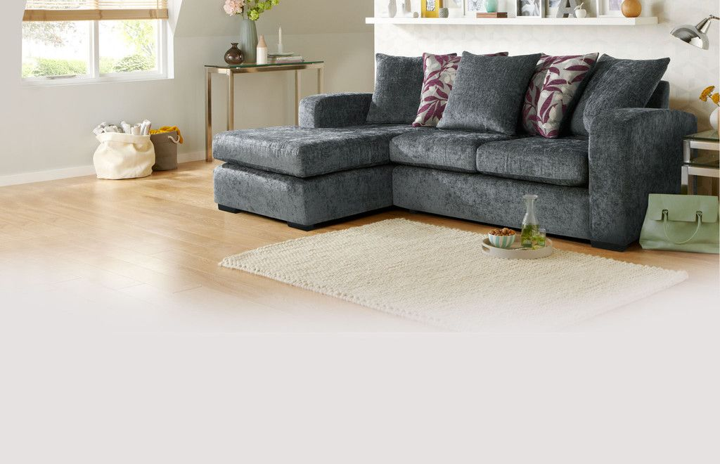 Left Hand Facing 4 Seater Pillow Back Chaise End Sofa