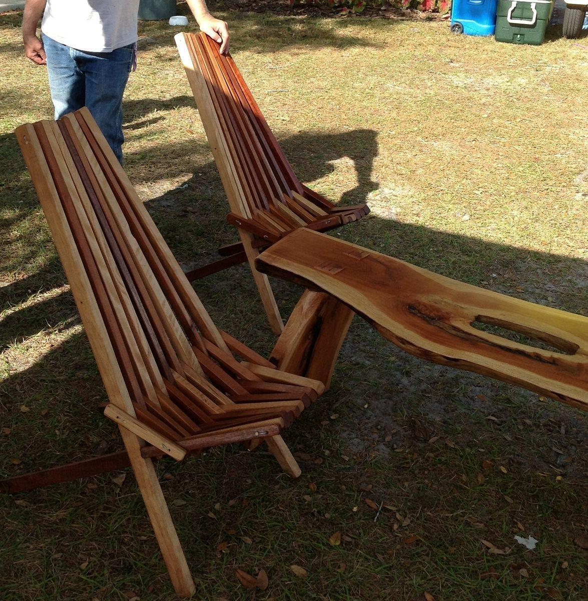 Custom Made Indoor Outdoor Wooden Slat Chair