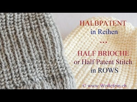 Halbpatent In Reihen Half Patent Or Half Brioche Stitch In Rows