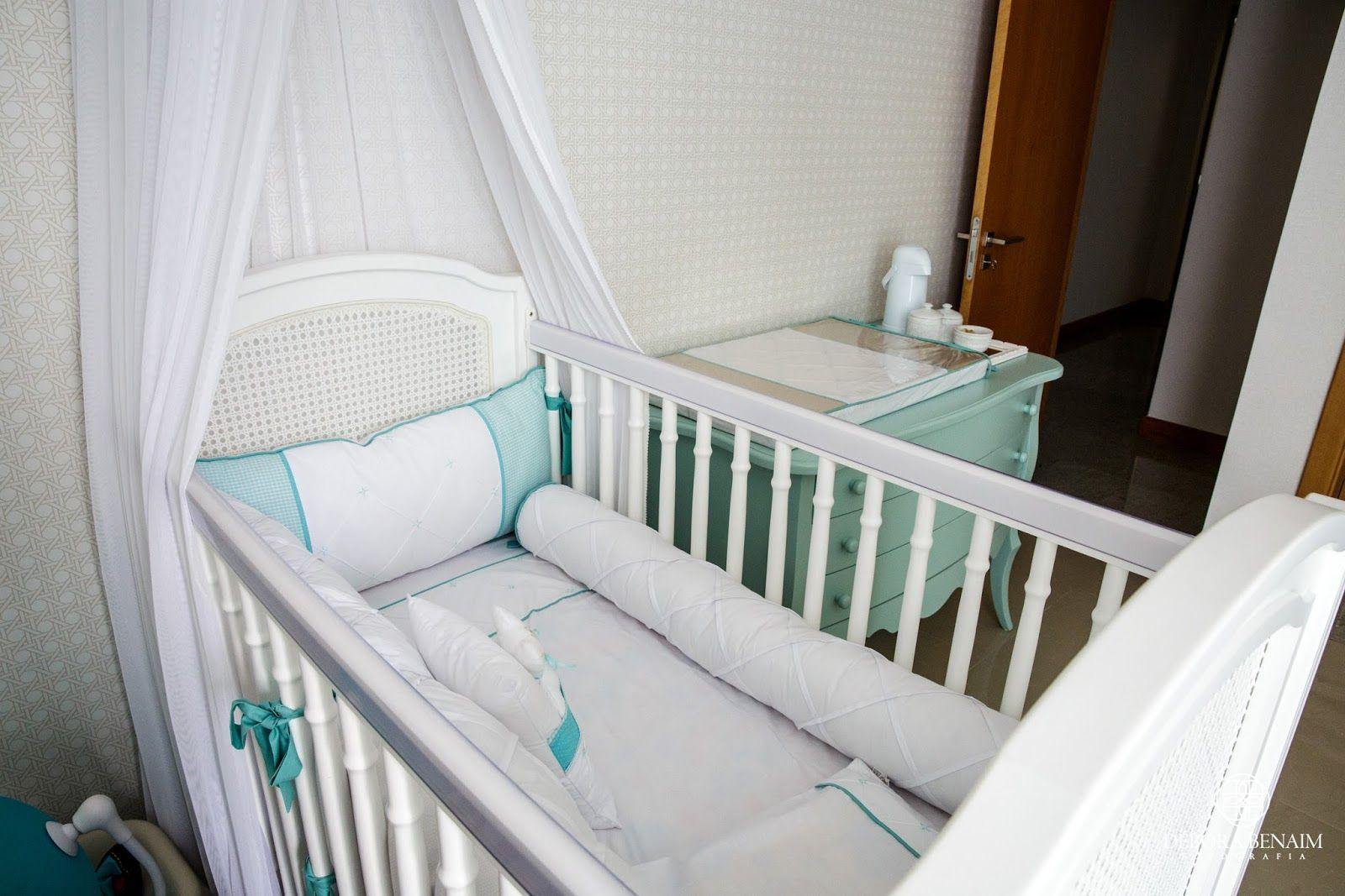 Lençol e Kit berço lindo em  Azul Tiffany neste quarto de bebê  by STUDIO NOBLE SAVAGE
