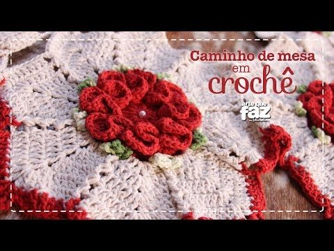 PAP Centro de mesa de crochê Flor de Cerejeira por JNY Crochê - YouTube cecbb97b1a1