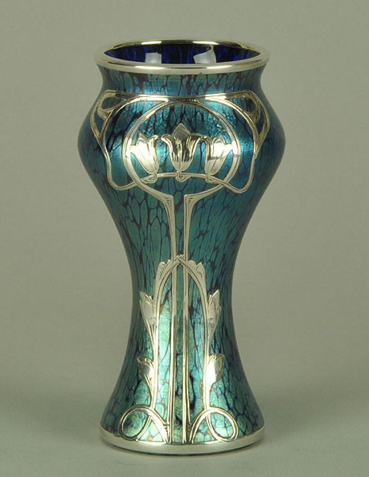 Loetz Silver Overlay Vase 1890 Love Silver Pinterest