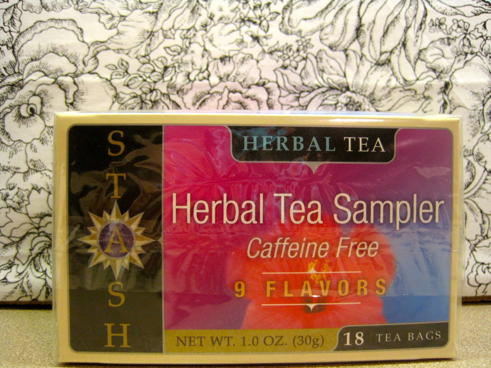 Stash Herbal Tea sampler with 9 different tea samples from the Love Vox Box!