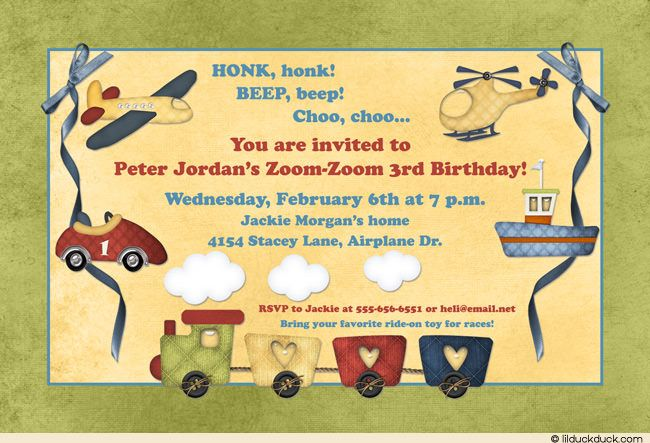Image Result For 3rd Birthday Invitations Boy