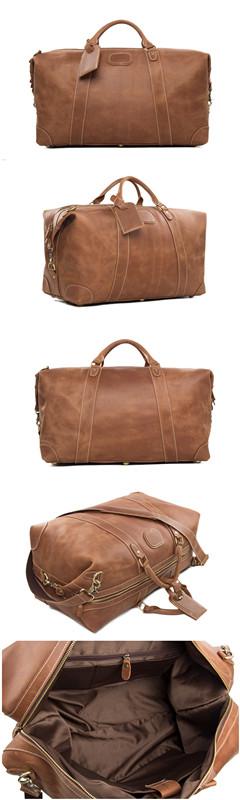 Leather Travel Bag, Duffle Bag, Weekend Bag