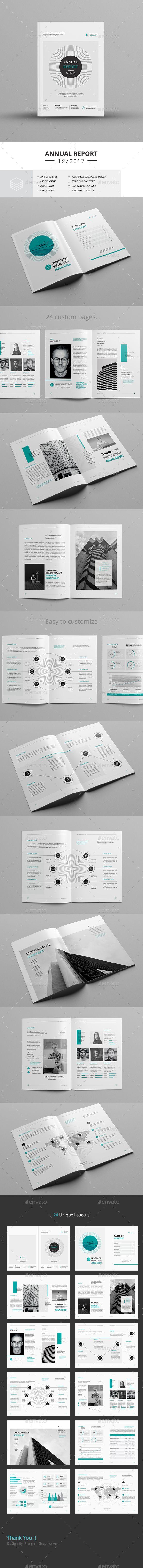 Annual Report A4 & Us Letter | Diseño de página
