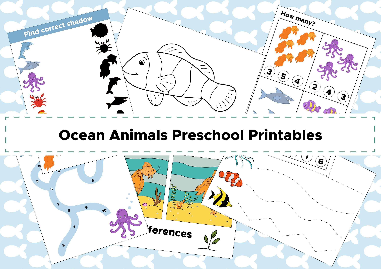Ocean And Sea Printable Game Pack Educational Printable In