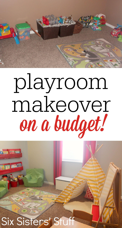 Kidu0027s Playroom Makeover On A Budget