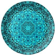 Astral Travel Mandala Porcelain Plates