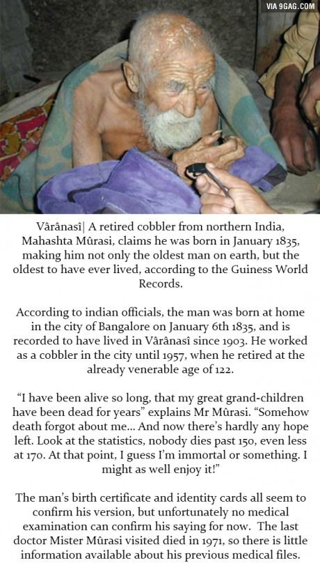 Reality Or Hoax Indian Man Claims He S 179 Years Old Fun Facts